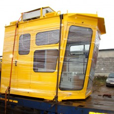 Cabin for dragline excavator